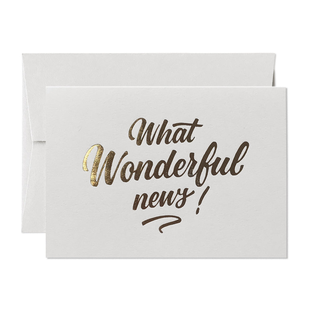 WHAT WONDERFUL NEWS CARD