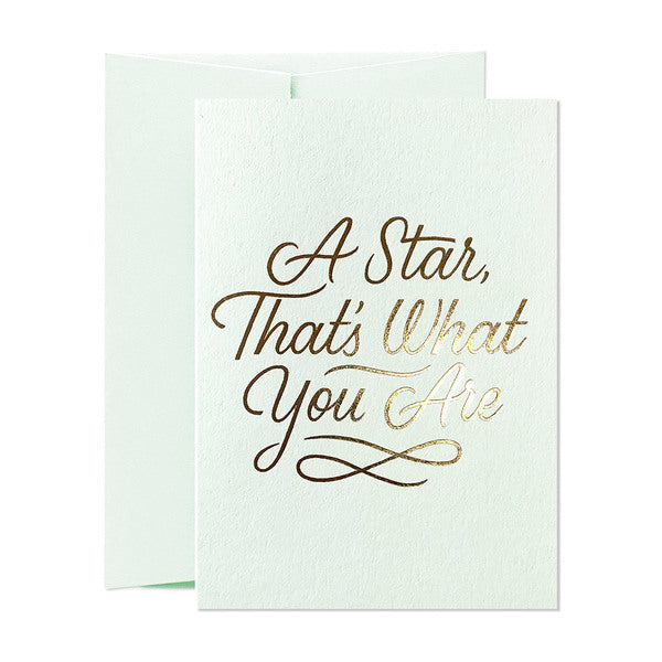 A START THAT'S WHAT YOU ARE CARD