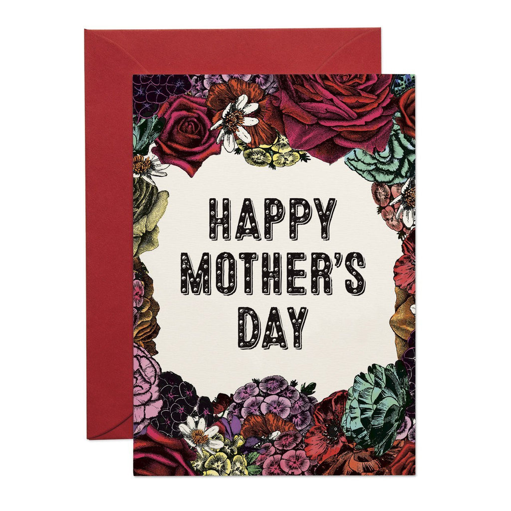 HAPPY MOTHERS DAY FLORAL GREETING CARD
