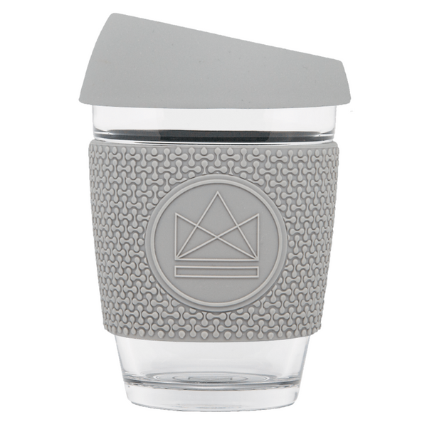 GLASS TRAVEL CUPV - GREY