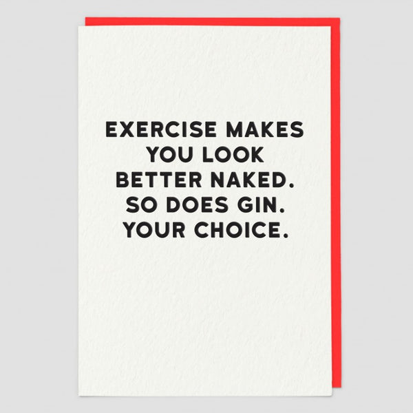 EXERCISE VS GIN CARD