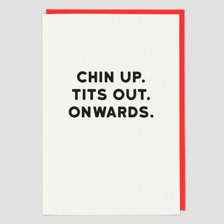 CHIN UP TITS OUT CARD