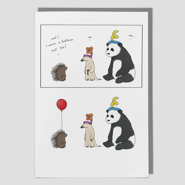 BALLOON HAT CARD