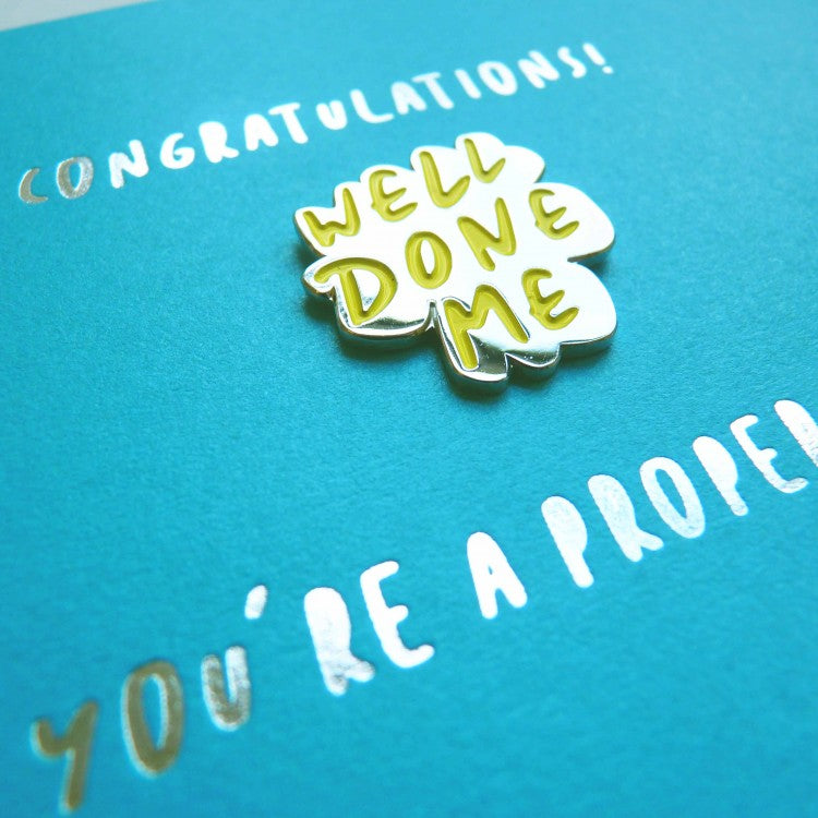 WELL DONE PIN CARD