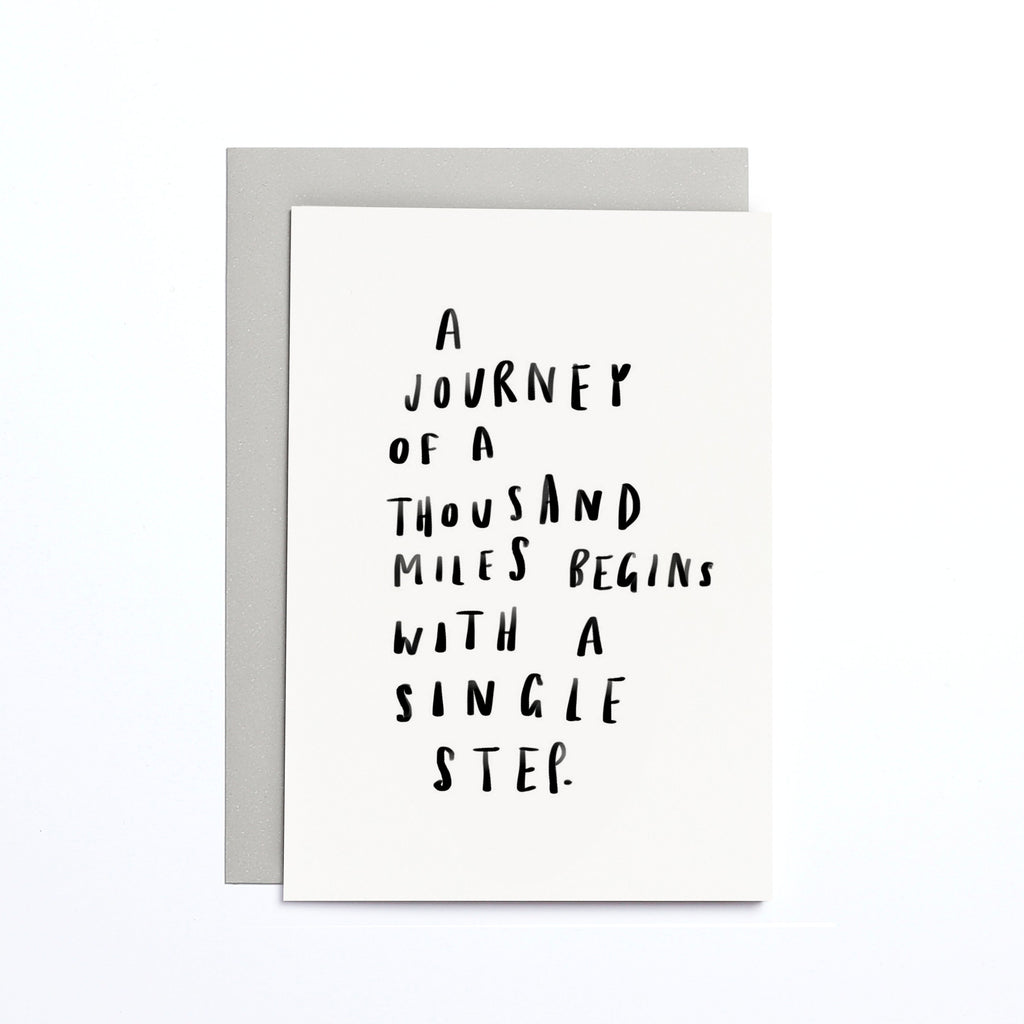 JOURNEY THOUSAND MILES SMALL CARD