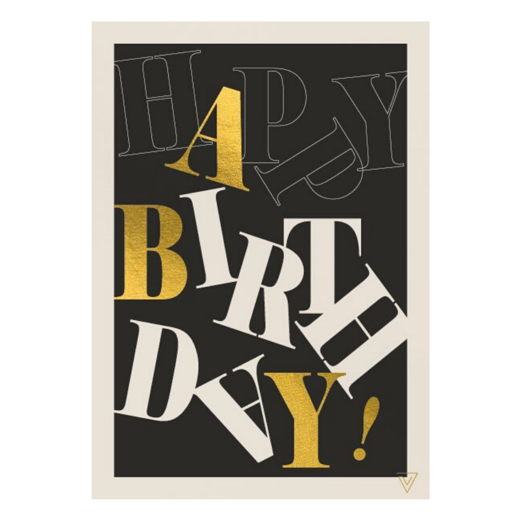 TYPE HAPPY BIRTHDAY CARD