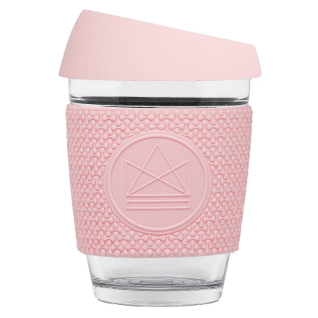 GLASS TRAVEL CUPV - PINK