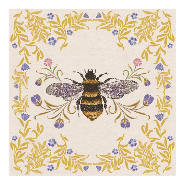 FLORAL BEE CARD