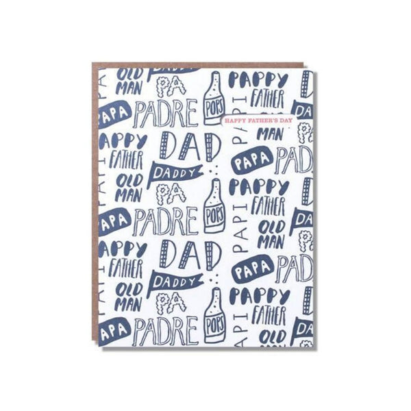 TYPO DAD CARD