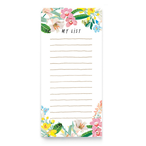 TROPICAL FLOWERS LIST PAD