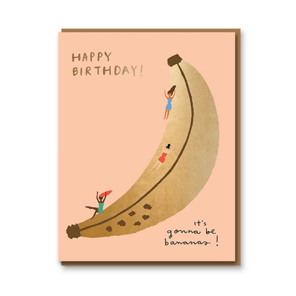 BANABA SLIDE BIRTHDAY CARD