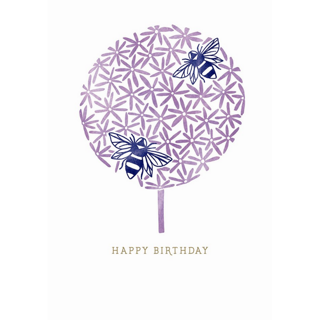BEE STAMP BIRTHDAY CARD