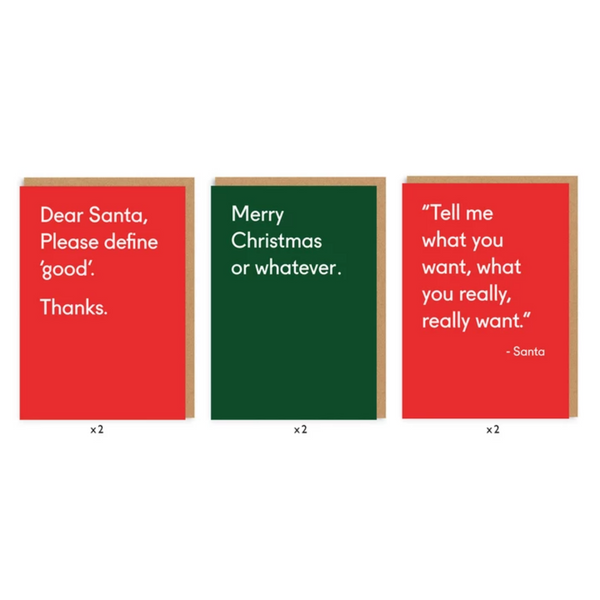 CHRISTMAS TYPE CARD SET