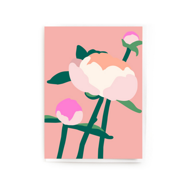 BRIGHT PEONIES CARD