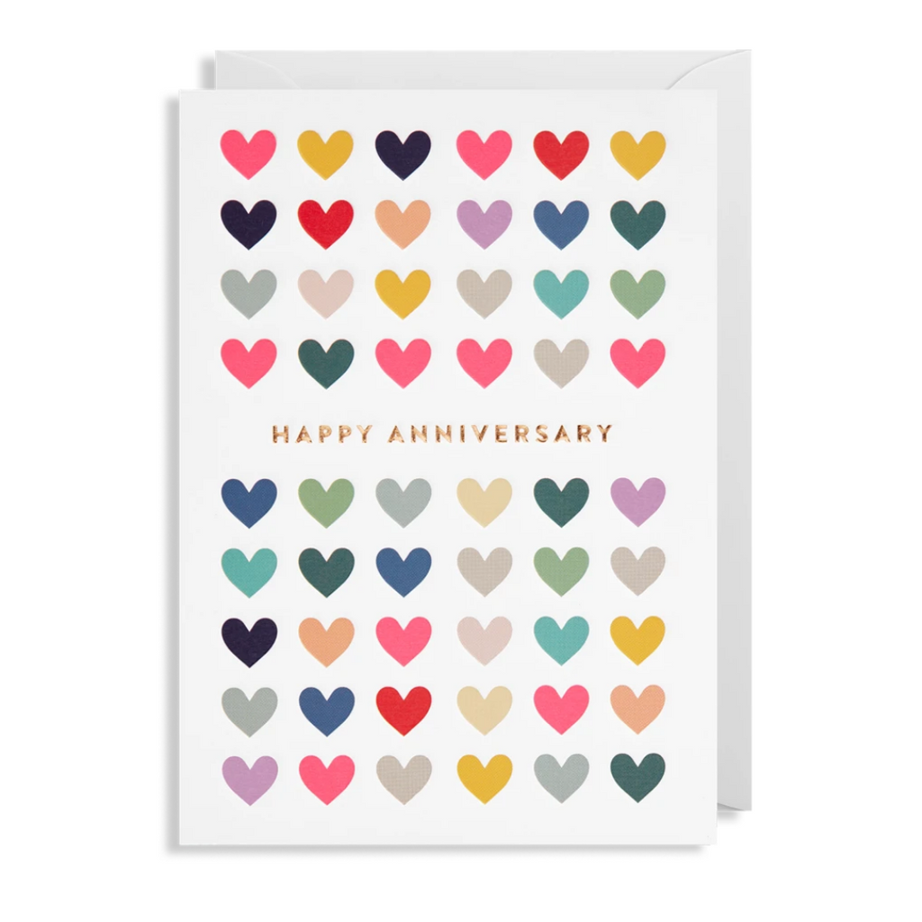 HEARTS ANNIVERSARY WISHES CARD