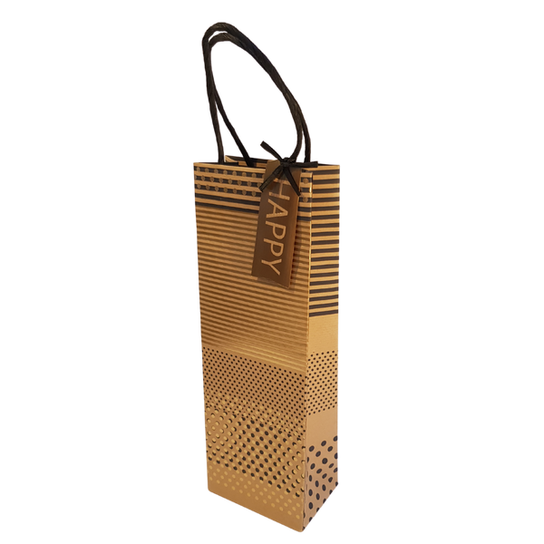 GOLD GEO BOTTLE BAG