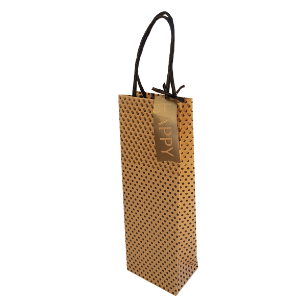GOLD POLKA BOTTLE BAG