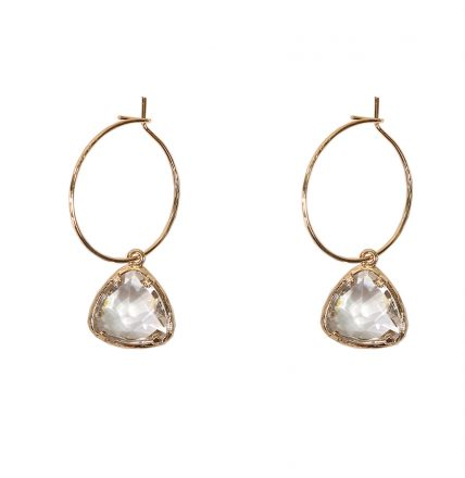 CHARLOTTE GEM EARRINGS - GOLD