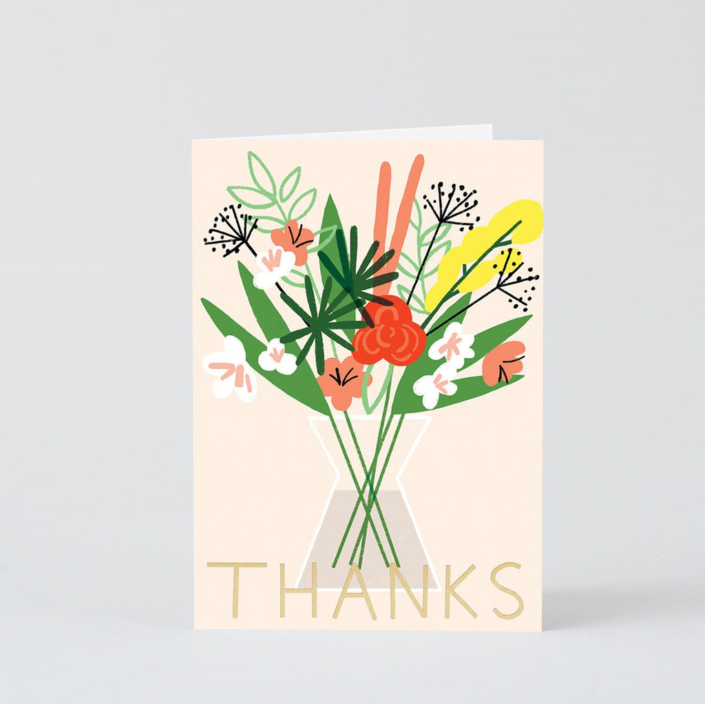 THANKS FLOWERS IN VASE CARD