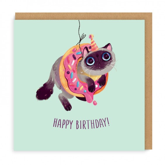DOUGHNUT CAT CARD