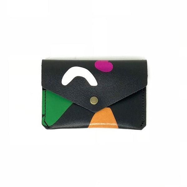 ABSTRACT CARD HOLDER - BLK