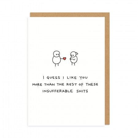 I LIKE YOU MORE CARD
