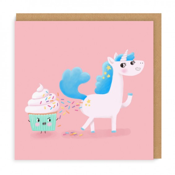 UNICORN POOP CAT CARD