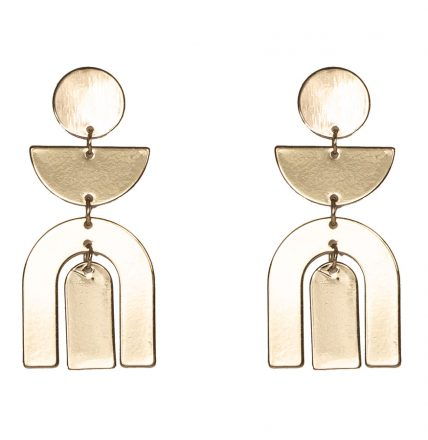 MAGNOLLIA  EARRINGS - GOLD