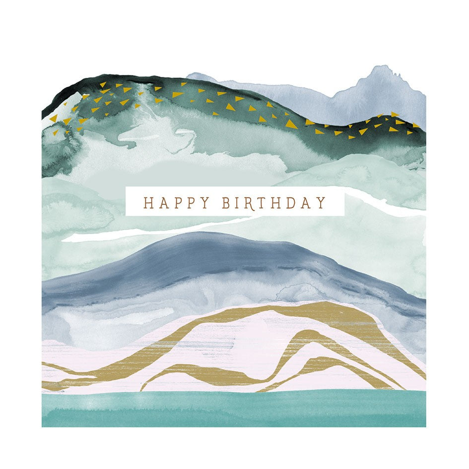 MARBLE WAVE  BIRTHDAY CARD