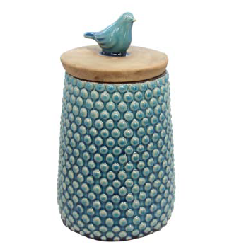 BIRD BOBBLE DECORATIVE JAR