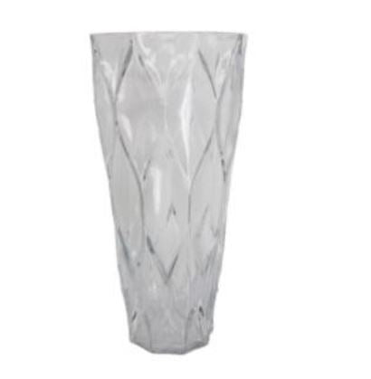 TRELLIS CLEAR GLASS VASE