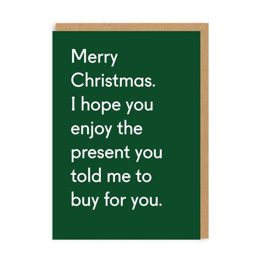 THE PRESENT GREETING CARD