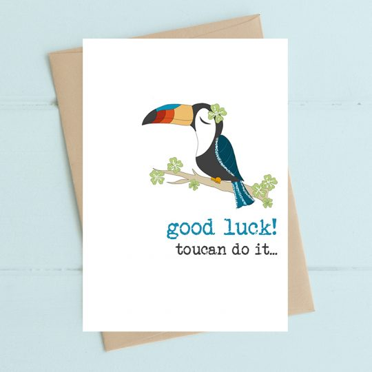 GOOD LUCK TOUCAN CARD