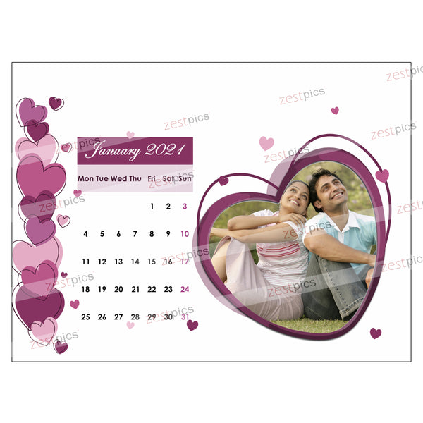 Personalised Calendar | Make a Calendar Online for 2021 | Zestpics