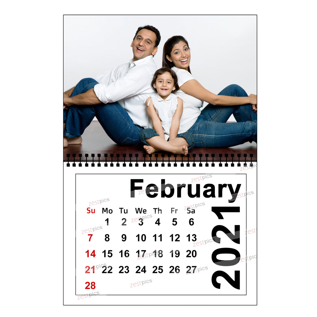 Buy Send Personalized Photo Wall Calendars 2021 Online In India At Zestpics
