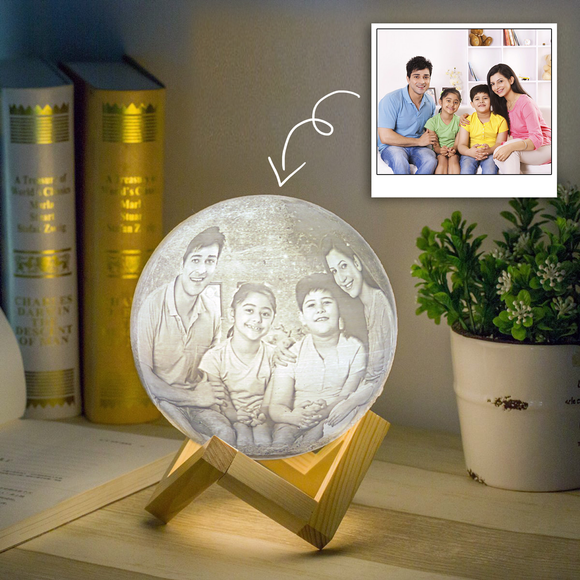 Personalised Moon Lamp | Personalised Couple Moonlight Lamp - Zestpics