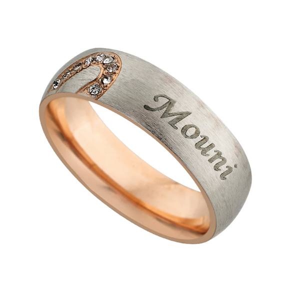 Personalized Name Ring | Name Rings for Couples Online at Zestpics