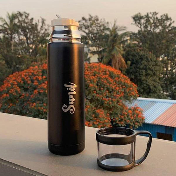 Buy Personalised Water Bottles | Hot and Cold Flask online at Zestpics