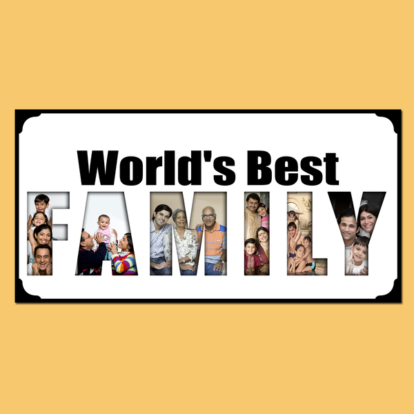 Buy World's Best Family Photo Frame, Best Family Photo Frames Online at Zestpics, India