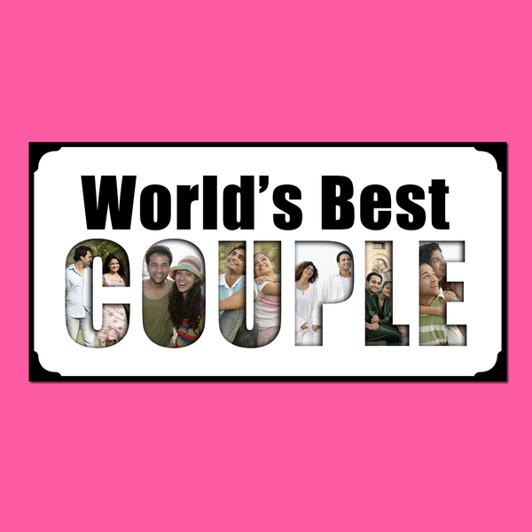 World's Best Couple Photo Frame
