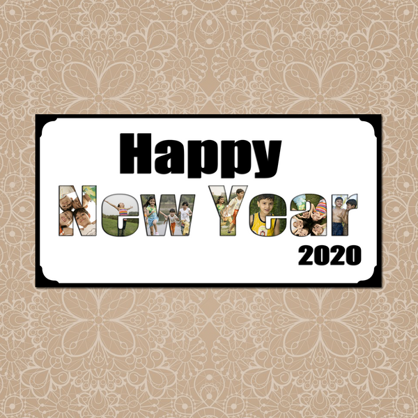 Happy New Year Frame|New Year Gifts|New Year Photo Frames online|Zestpics