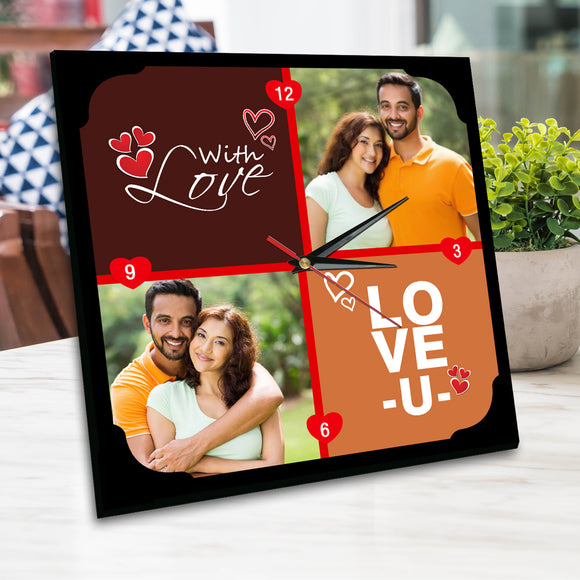 Love Personalised Table Clock | Clock Picture | Photo Clock | Zestpics