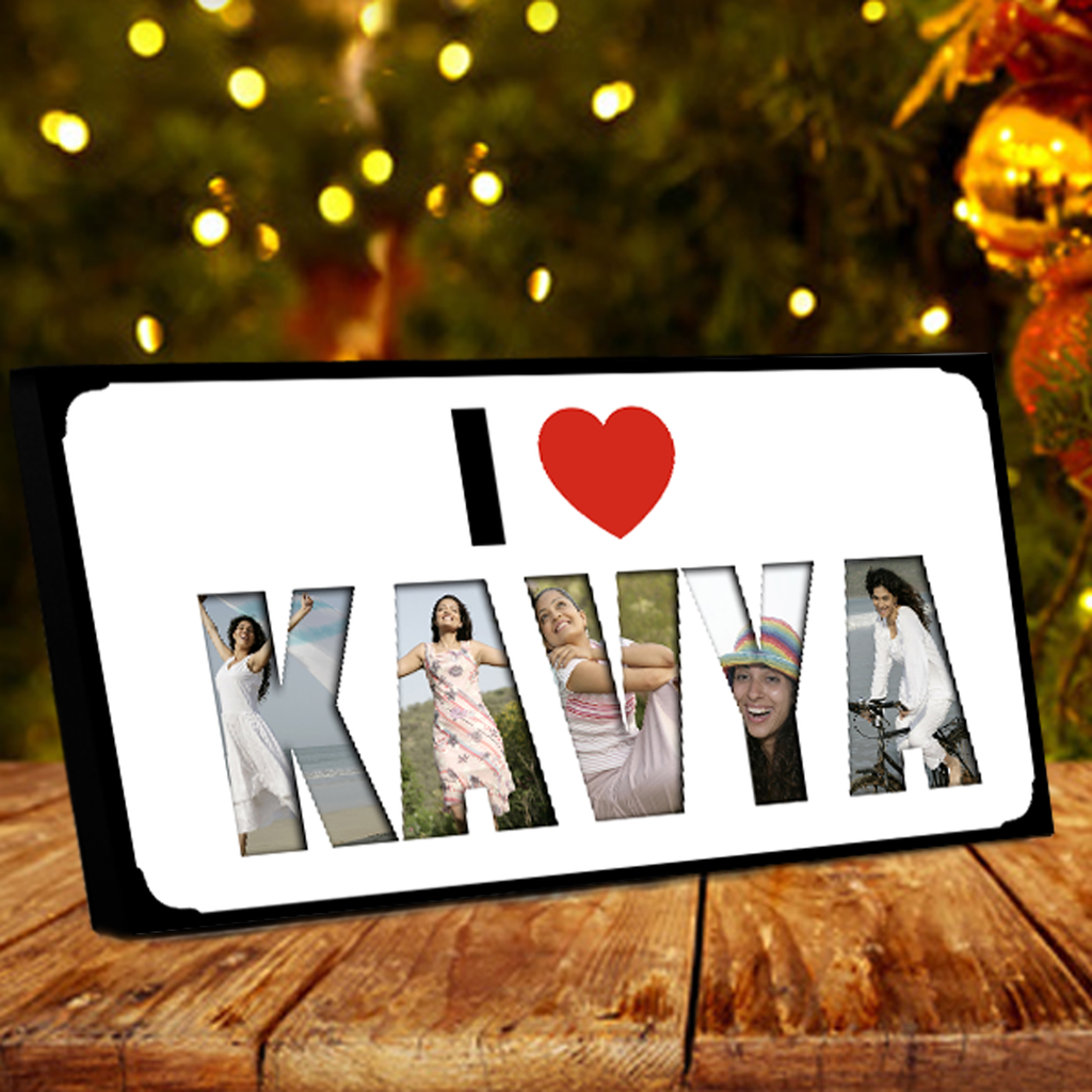 I Love Name Collage Frame Valentine Gifts Online Shopping Send Valentine S Day Gift For Her India Zestpics