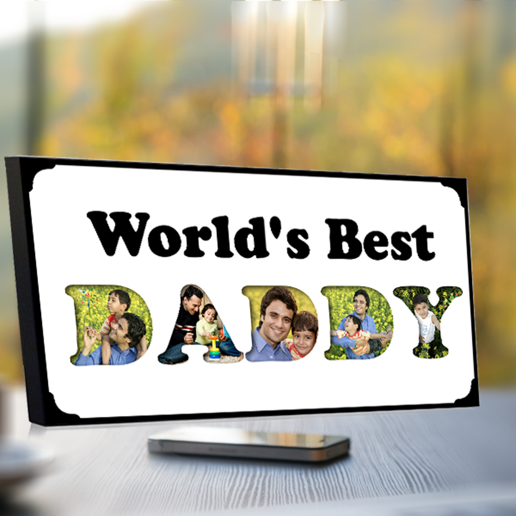 World's Best Daddy Photo Frame-standard frames-Zestpics