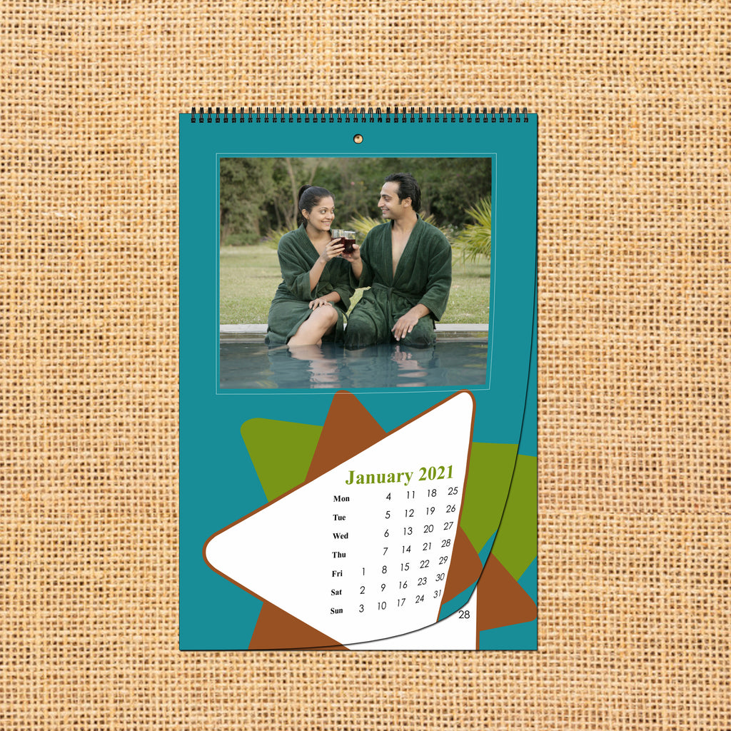 Buy & Send Personalized Photo Wall Calendars 2021 online in India at Zestpics