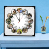 Photo Frame Clock | 12 Photos Table Clock | Photo Clocks | Zestpics