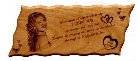 Buy Online Engraved Valentine Plaque Gift, Wooden Engraving Gifts India