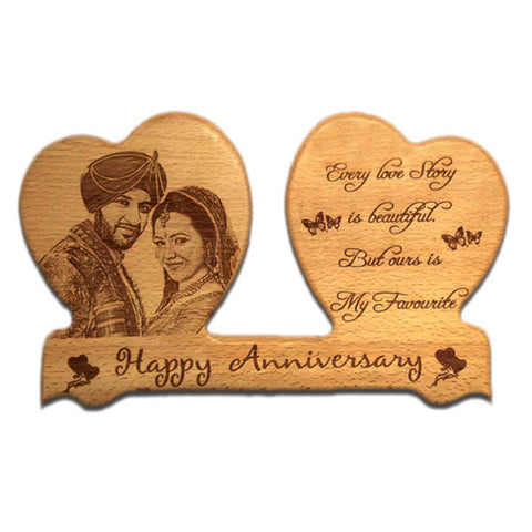 Happy Anniversary Personalised Plaque at Best Prices in India|Zestpics, Valentine's Day Gifts