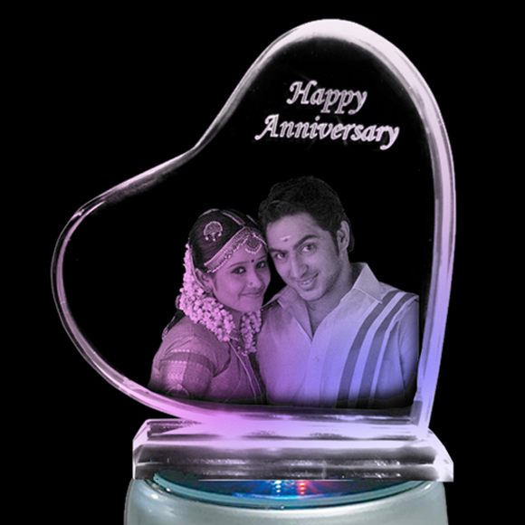 Buy Zestpics crystals, Personalized photo laser engraved crystals for anniversary, wedding gifts online at low prices with best quality in India. 3D crystal photo gifts in Hyderabad, 3D images of love hearts, 3D heart images, 3D engraved crystal gifts, 3d photo heart crystal, unique personalized gifts India, 3D laser engraving