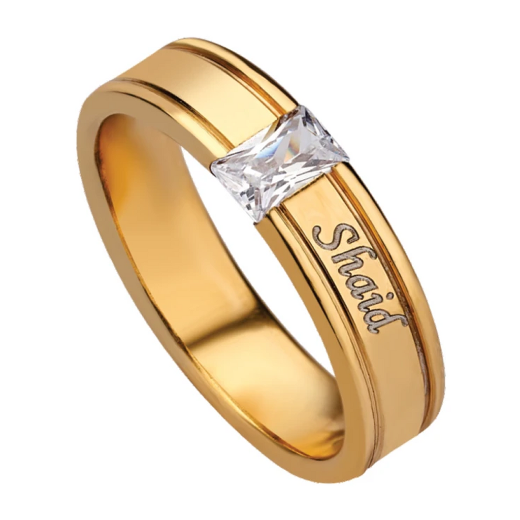 Promise Rings for Him | Name Rings for Men Online at Zestpics